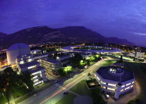 Aerial view of the EPN campus Grenoble (Copyright ILL / Peter Ginter)