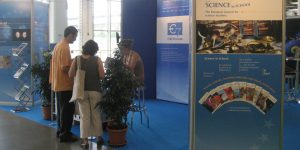 Visitors at the EIROforum stand