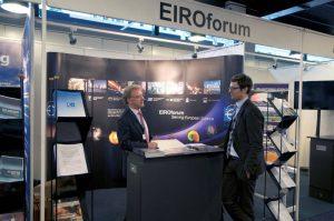 The EIROforum information stand at ICRI 2012