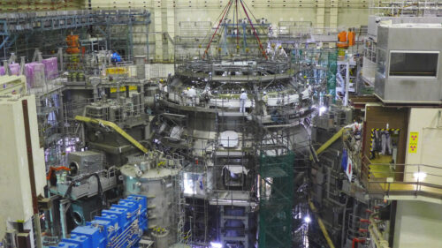 Assembly of JT-60SA completed. This will be the most powerful superconducting tokamak until ITER is operational. It results from the successful partnership between Europe and Japan