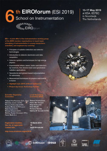 6th EIROforum School on Instrumentation (ESI 2019): Poster of the event