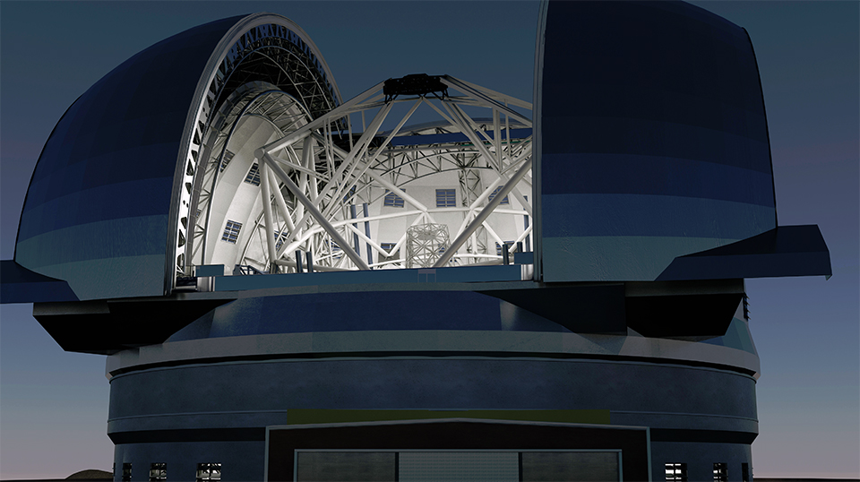 The Future European Extremely Large Telescope (Credit: Swinburne Astronomy Productions/ESO)