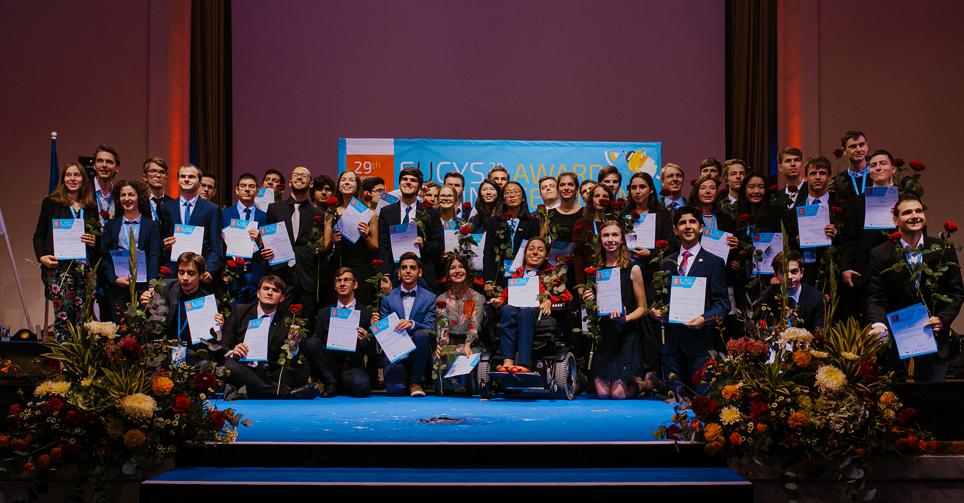 Winners at the EUCYS 2017 Awards Ceremony