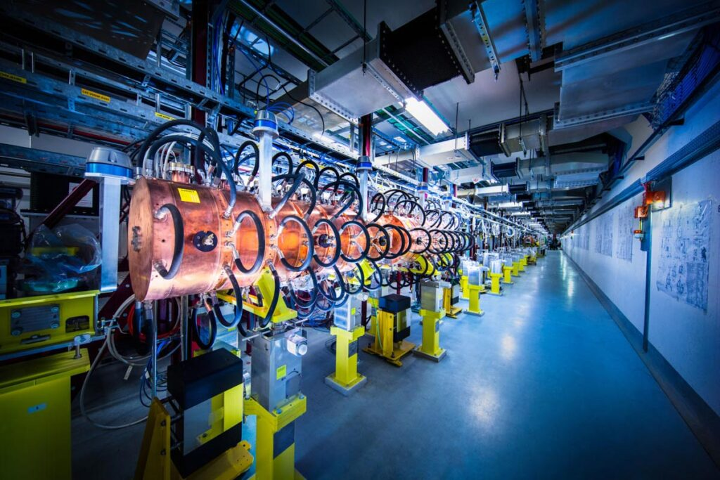 CERN's newest accelerator, LINAC4, began commissioning in August 2020 as part of the LHC Injectors Upgrade, LIU, project (Image: Andrew Hara/CERN).