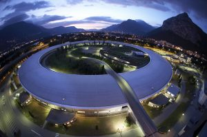 The storage ring of the European Light Source (ESRF) in Grenoble.