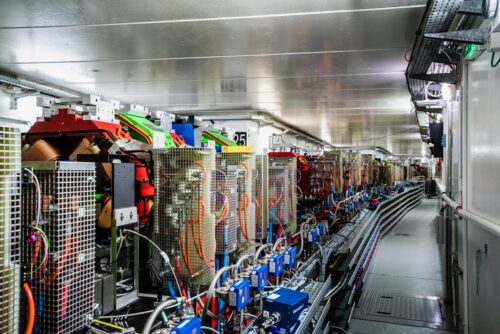 A view inside the new ESRf-EBS storage ring, the first high-energy 4th-generation synchrotron (Credit: ESRF/stef Candé)