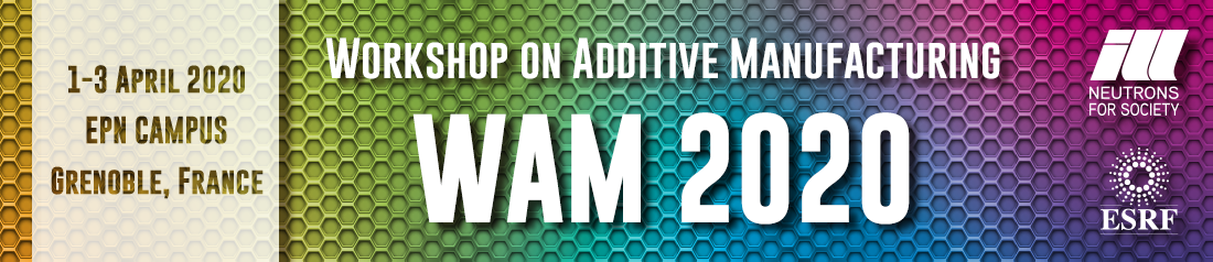 Key visual for the Workshop on Additive Manufacturing 2020 (WAM2020)